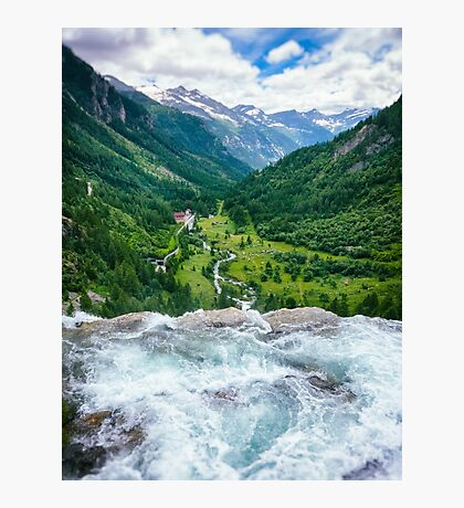 Waterfall in the Alps Photographic Print