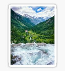 Waterfall in the Alps Sticker