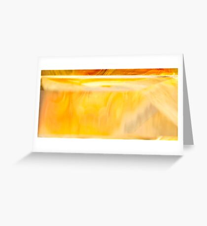 Golden Shadow Greeting Card