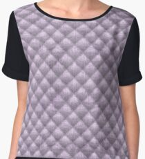 Quilted Soft Lavender Velvety Pattern Chiffon Top