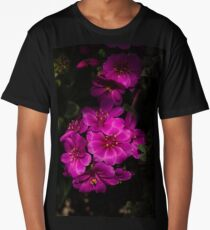 A Vivid Succulent Bouquet in Bold Pink and Fuchsia Long T-Shirt