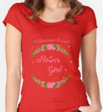 Flower girl T-shirt Women's Fitted Scoop T-Shirt