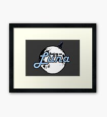 Join Us On Luna Framed Print