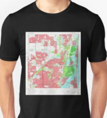 USGS TOPO Map Florida FL North Miami 347686 1962 24000 Unisex T-Shirt