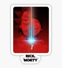 Rick And Morty Star Wars Sticker