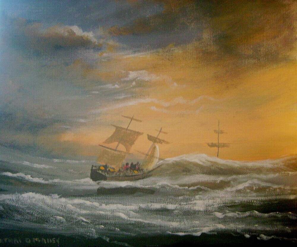sailing into a storm by cathal  o malley