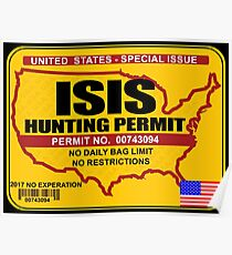 ISIS Hunting permit Poster