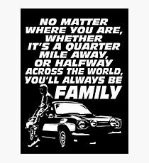 Fast 8 - Paul Walker Forever Photographic Print