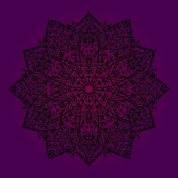 Mandala *deep purple* by nadegata