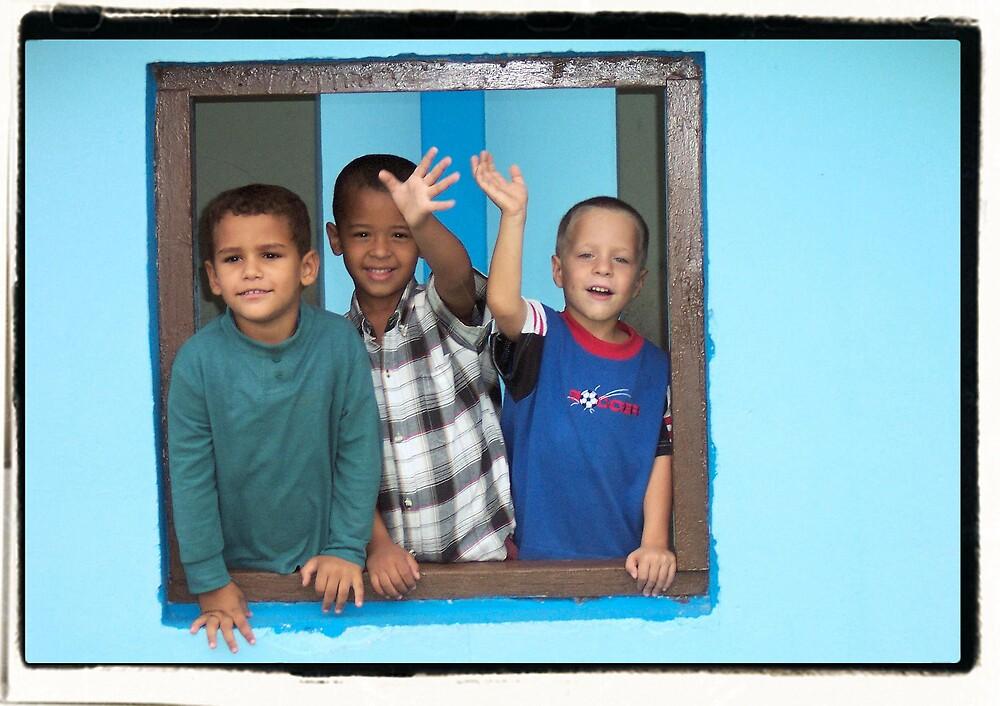 Cuban Boys Playing by Photoflirt