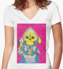 Pika belle cosplay Women's Fitted V-Neck T-Shirt
