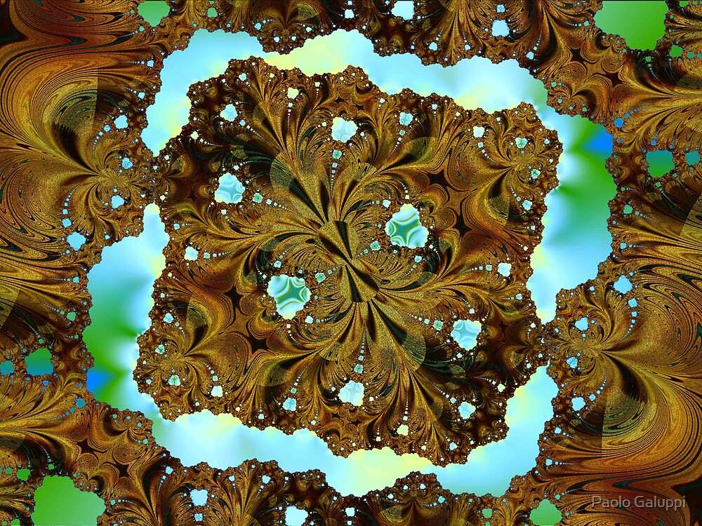 Fractal Wood Carving by Paolo Galuppi