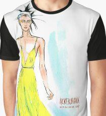 fashion #63: Woman in a  long yellow dress Graphic T-Shirt