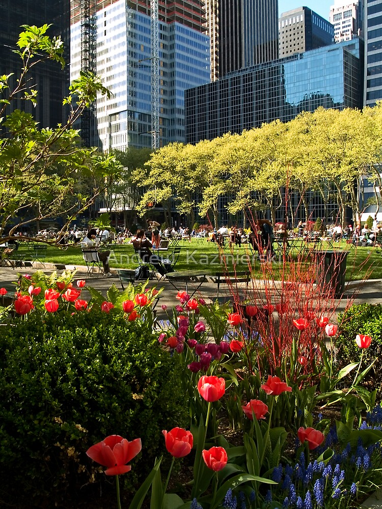 Bryant Park Spring by andykazie