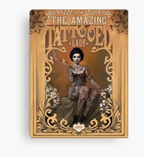 The Amazing Tattooed Lady Canvas Print