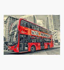 London - Mormon bus Photographic Print