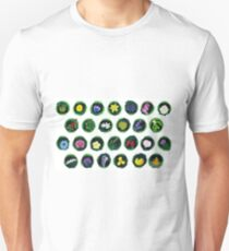Textless Staggered Botanical Alphabet T-Shirt