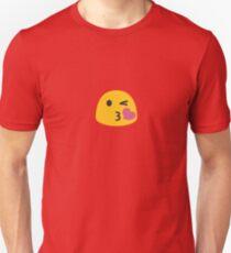 Kiss Face Emoji Emoticon Unisex T-Shirt