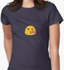 Kiss Face Emoji Emoticon Womens Fitted T-Shirt
