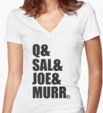 Q&Sal&Joe&Murr Women's Fitted V-Neck T-Shirt