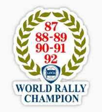 Pegatina Lancia World Rally Champion