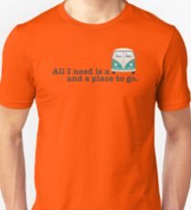 ALL I NEED (teal bus) Unisex T-Shirt