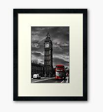 London Big Ben with Red Bud Framed Print