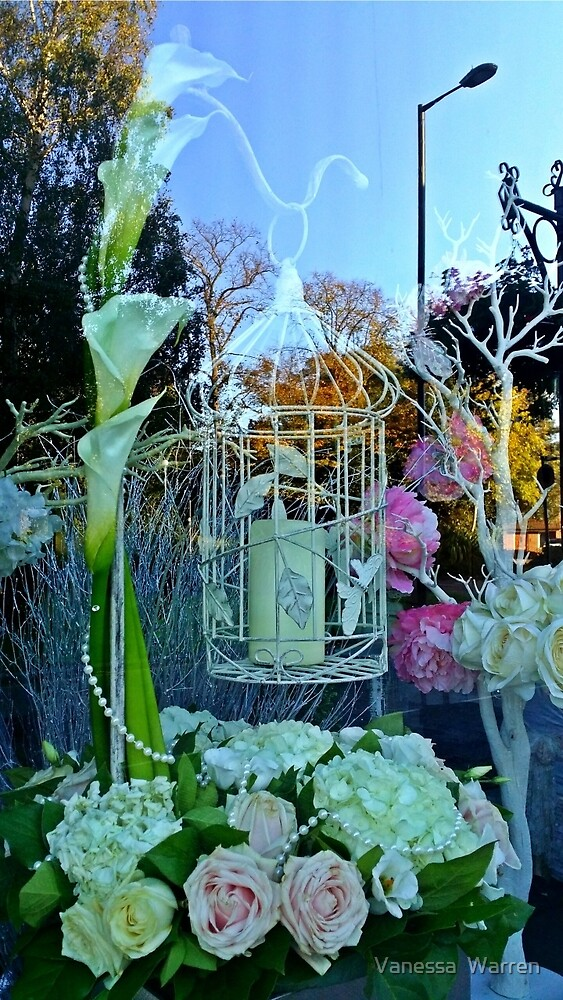 Bird Cages, Candles, Lillies & Pearls by Vanessa  Warren