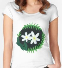 Jasmine Botanical Painting Women's Fitted Scoop T-Shirt