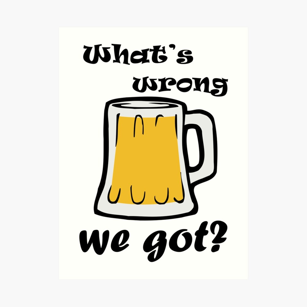 ¿Qué está mal con la cerveza que tenemos? Lámina artística
