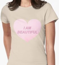 I AM BEAUTIFUL Womens Fitted T-Shirt