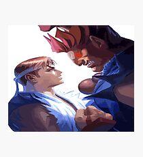 Street Fighter - Ryu Match Akuma Photographic Print