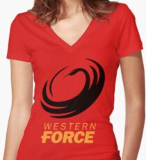 the western force Women's Fitted V-Neck T-Shirt