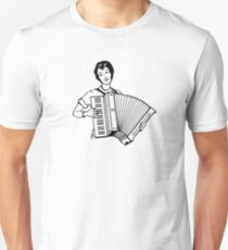Woman With Acordeon Unisex T-Shirt