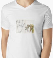 Egon Schiele Hands V-Neck T-Shirt
