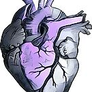 Anatomical Heart ALTERED Lavender by JPDesignWorks