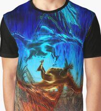 Yin Yang Dragons Graphic T-Shirt