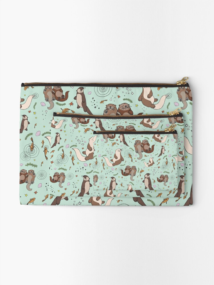 Alternate view of Sea Otters Zipper Pouch