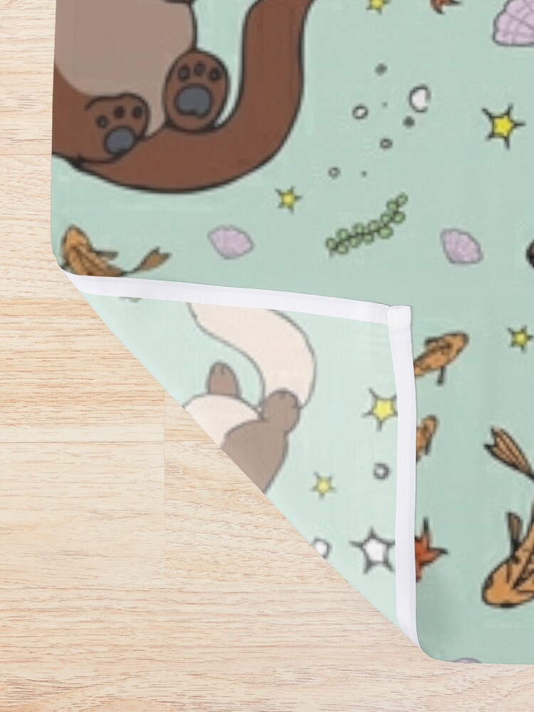 Alternate view of Sea Otters Shower Curtain