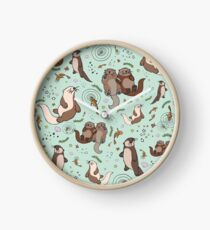 Sea Otters Clock