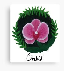 Orchid Botanical Painting Canvas Print