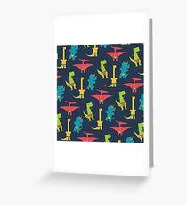 Dinos In Speedos Greeting Card