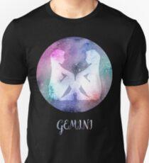 Watercolor Zodiac Gemini Sign Unisex T-Shirt