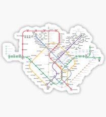 Singapore Rail Map Sticker