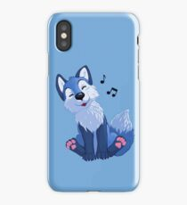 Blue singing, swinging foxy iPhone Case
