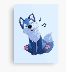 Blue singing, swinging foxy Metal Print