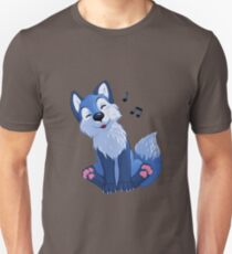 Blue singing, swinging foxy Slim Fit T-Shirt