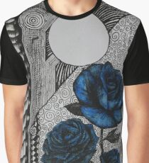 Blue Roses and Vertebrae  Graphic T-Shirt