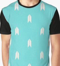 Arrow Pattern Turquoise Graphic T-Shirt