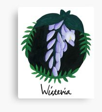 Wisteria Botanical Painting Canvas Print